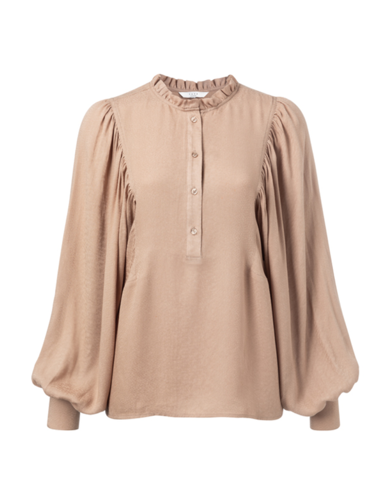 YAYA BLOUSE WITH PUFF SLEEVES AND RUFFELS