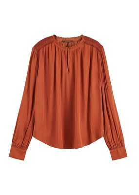 Scotch and Soda BLOUSE MET GESMOKTE SCHOUDERS