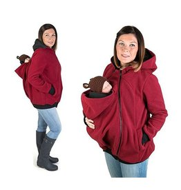 KOALA 3in1 babywearing jacket with backwearing function - Bordeaux / Black
