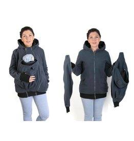 NEW LUNA 3in1 manteau de portage polaire - Graphite / noir