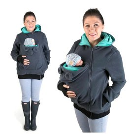 LITTLE BEAR Fleece draagvest - grafiet/teal