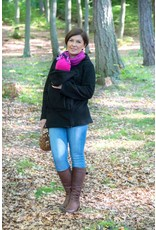 BASIC fleece babywearing jacket - Black
