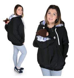 AXEL 3in1 Manteau de portage avec fonction portage au dos - Charcoal / Coral patern purple