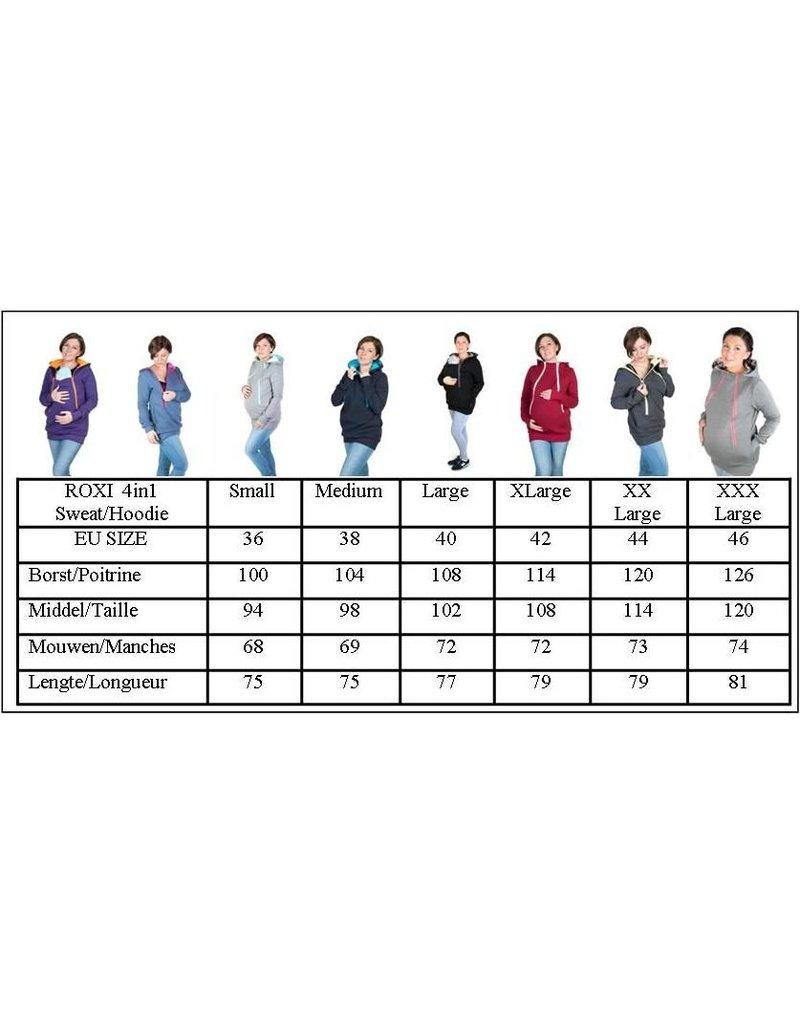 ROXI 4in1 sweater/hoodie Grey-pink