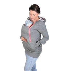 ROXI 4in1 sweater/hoodie Grijs-roze