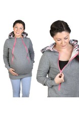 ROXI 4in1 sweater/hoodie Grey-pink