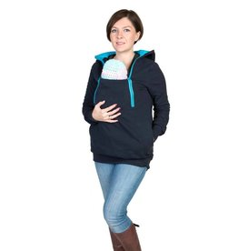 ROXI 4in1 sweater/hoodie Marine-turquoise