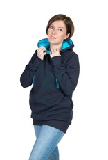 ROXI 4in1 sweater / hoodie Navy-turquoise