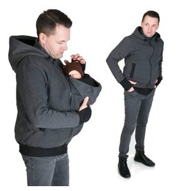 New Men Sweater/hoodie- Gris/Noir