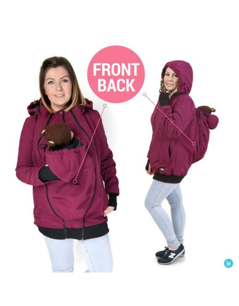 Allweather Softshell 3in1 with back function - Purple