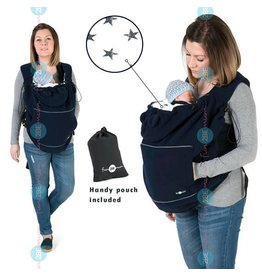 Babywearing cover - Fleece - Navy / stars