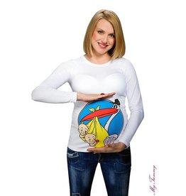 """Shirt de maternité """"Twin Stork"""" - Blanc"""