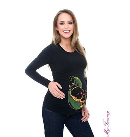 "Maternity Shirt ""Leaf Bee"" - black"