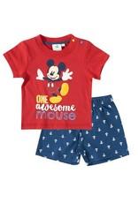 Disney Mickey t-shirt en korte broek ROOD
