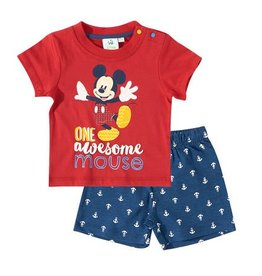 Disney Mickey t-shirt and shorts RED