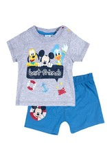 Disney Mickey t-shirt en korte broek GRIJS
