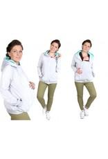 SOFIA GRAY MINT  sweater