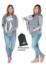 Babywearing Cover Fleece Gray Rabbit ears