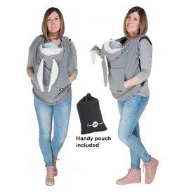 Babywearing Cover Fleece Grijze Konijnenoren