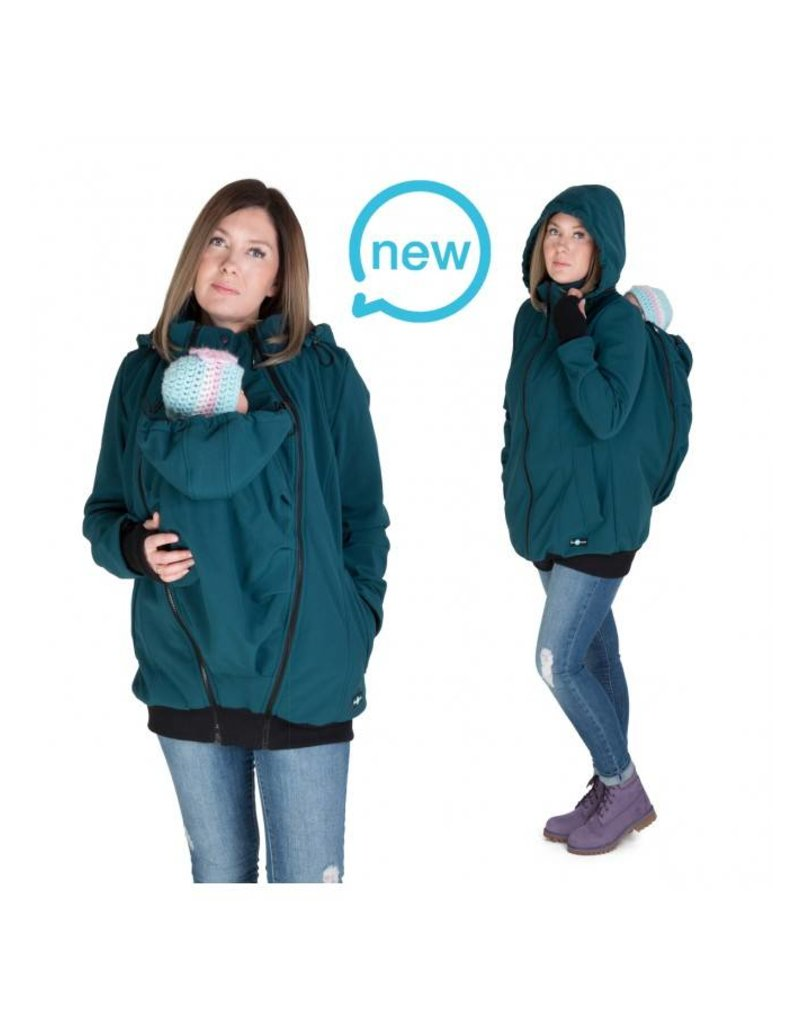 54fb74c4958b8 Allweather Softshell 3in1 with back function - Green - Babystock
