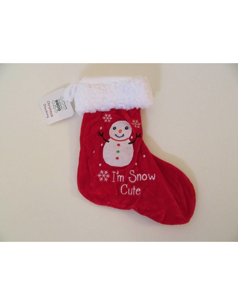 Baby Christmas Stocking Snowman