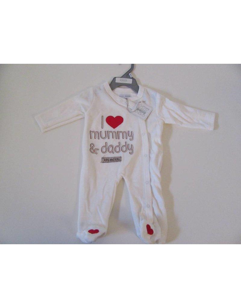 Velours bébé tout en un amour