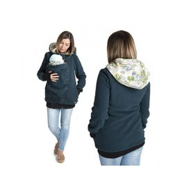 LUNA 3in1 Fleece draagjas – Petrol