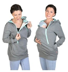 ROXI 4in1 sweater / hoodie Grey-mint - Butterfly