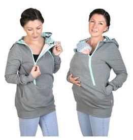 ROXI 4in1 sweater/hoodie Grijs-munt Butterfly