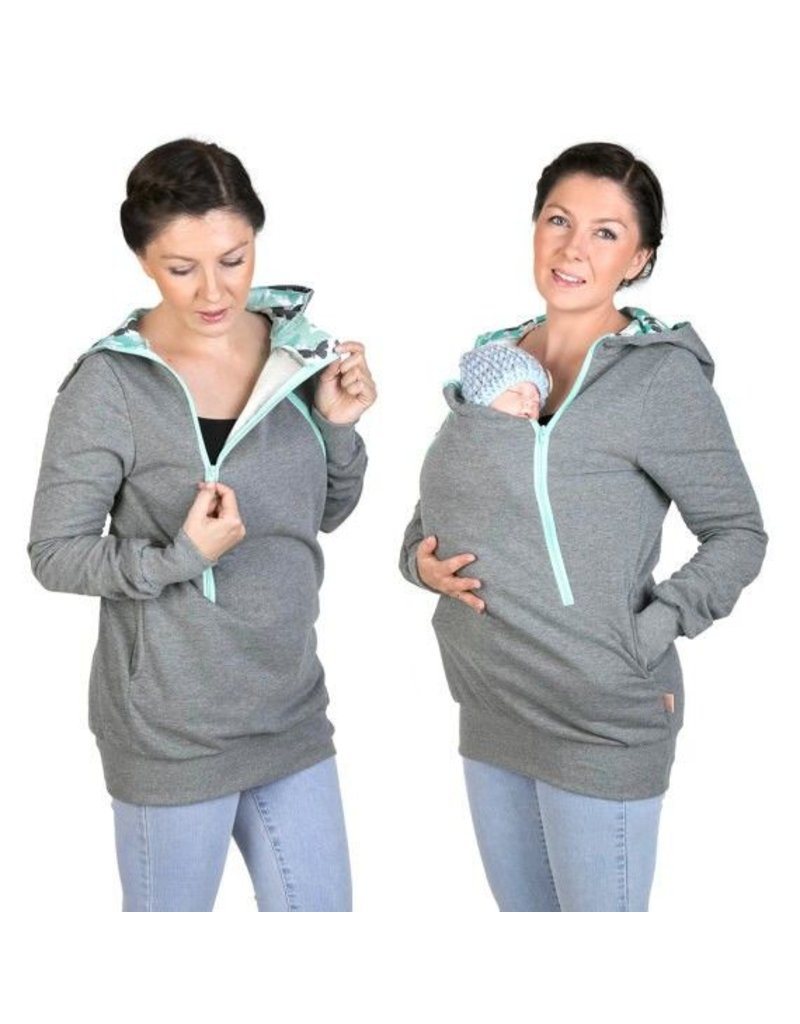 ROXI 4in1 Sweater/hoodie Gris-menthe - Butterfly