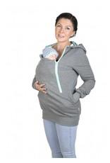 ROXI 4in1 sweater / hoodie Grey-mint - Butterfly
