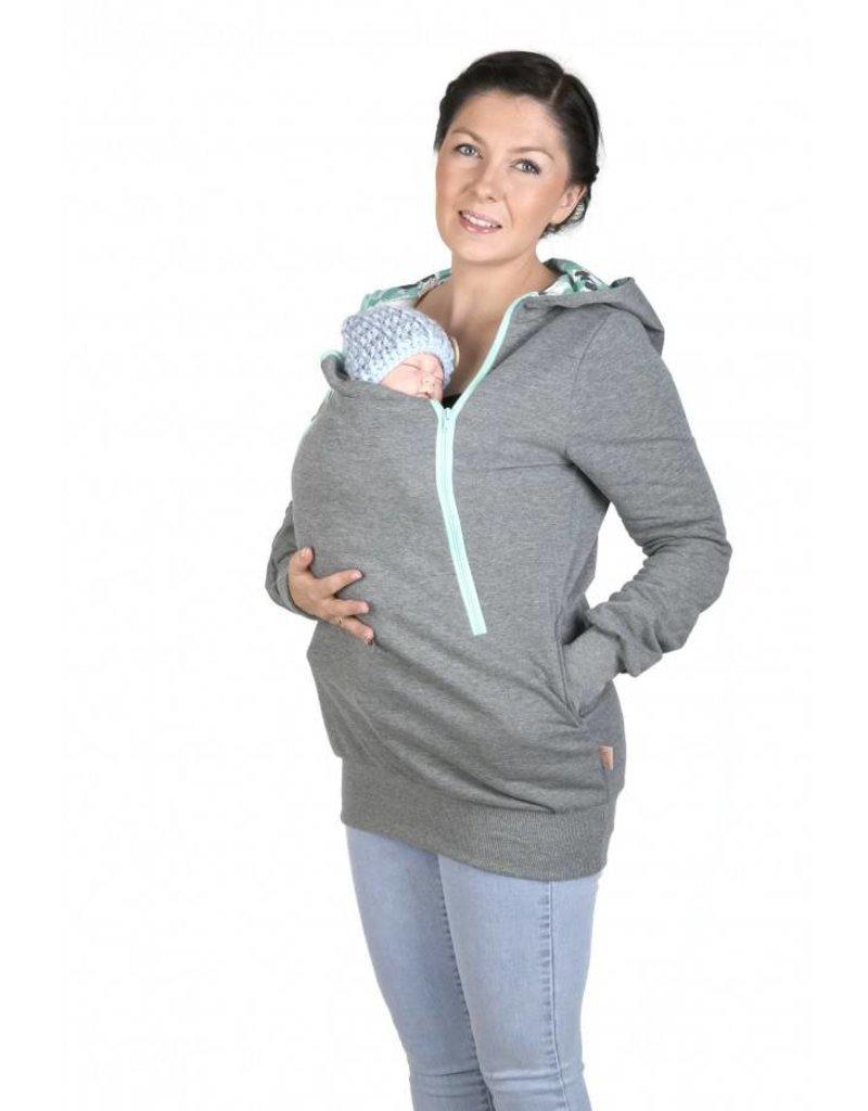 ROXI 4in1 sweater/hoodie Grijs-munt - Butterfly