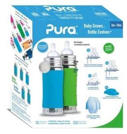 Pura starter set 325ml Aqua and Green
