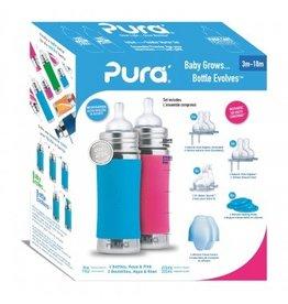 Pura starterset 325ml Aqua en Roze