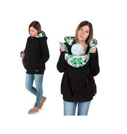 LUNA 3in1 Manteau de portage polaire - Black Leaves