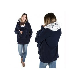 NEW LUNA 3in1 Fleece Babywearing jacket - Navy Stars