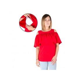 Haut d'allaitement Isabella rouge