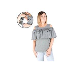 Isabella Breastfeeding Top Gray