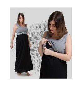 Robe longue gris panthère