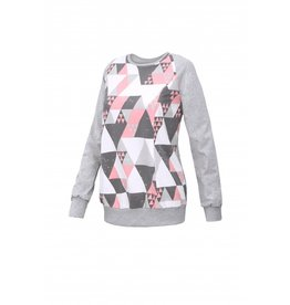 Charlie Sweater Grey Triangles