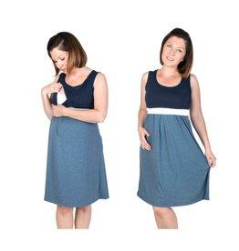 Robe de maternité Jeans Marine