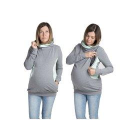 Pull de grossesse Lily, pièce grise