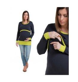 Alex T-Shirt Long Sleeves Graphite Lime
