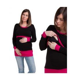 Alex T-Shirt Manches Longues Rose Noire