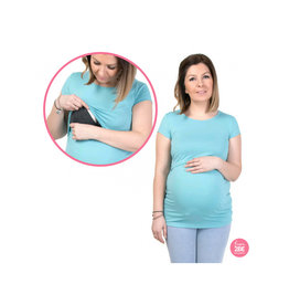 Chloe T-Shirt Short Sleeves Turquoise