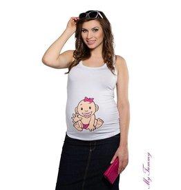 Zwangerschapstopje – Babygirl /Wit
