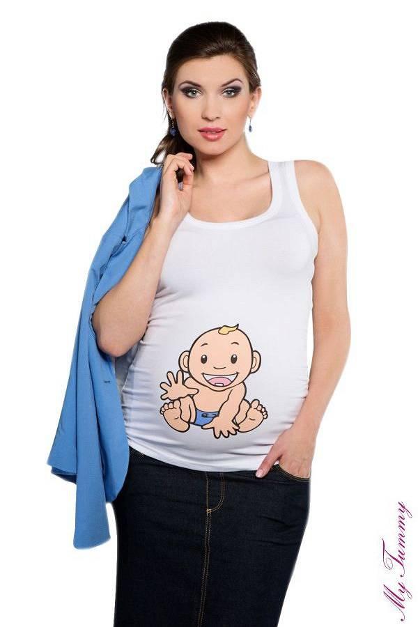 c4a024beb9358 Maternity Top - Babyboy / white - Babystock