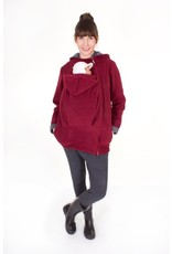 WearBaby - Pullover BASIC - Bordeaux / gray dots