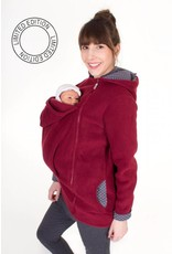 WearBaby - Pullover BASIC - Bordeaux / points gris