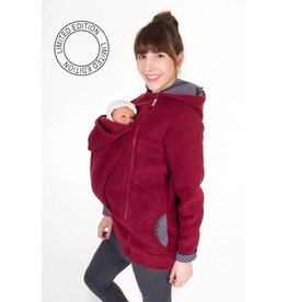 WearBaby - Pullover BASIC - Bordeaux / grijze stippen